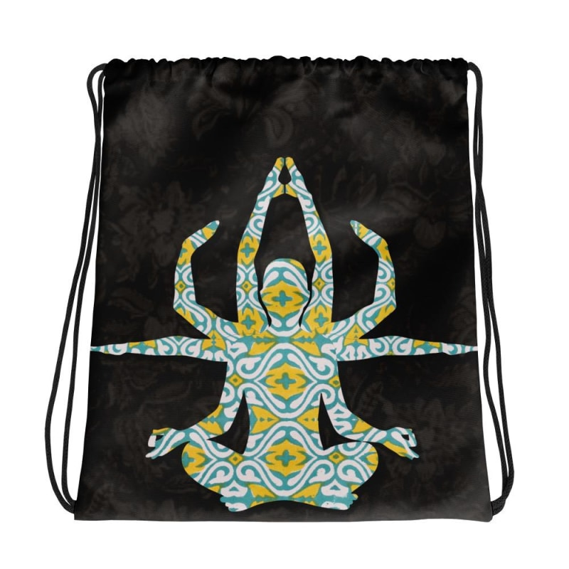 Yoga Drawstring bag, Yoga backpack - TheVirasat - Home Furnishings Textile Exporter
