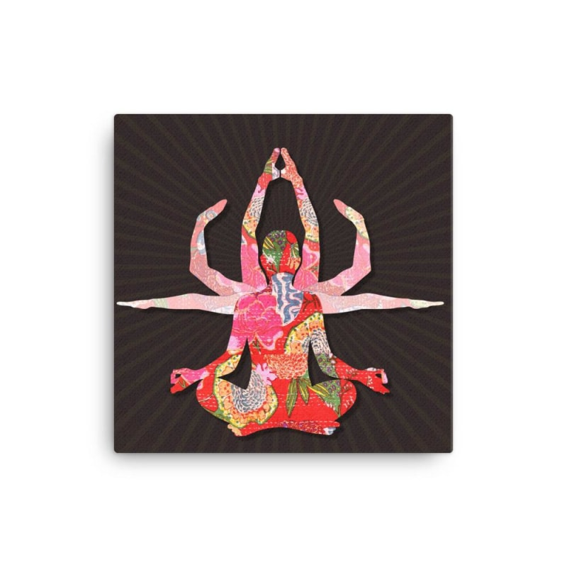 Yoga Goddess Canvas - TheVirasat - Home Furnishings Textile Exporter