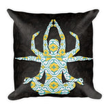 Yoga Green Square Pillow Premium Pillow - Printed