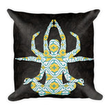 Yoga Green Square Pillow