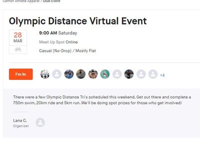 First Strava Tri event this weekend