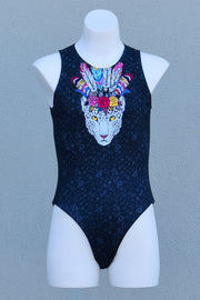 Girl's A Leopard Can't Change Her Spots Waterpolo Catsuit