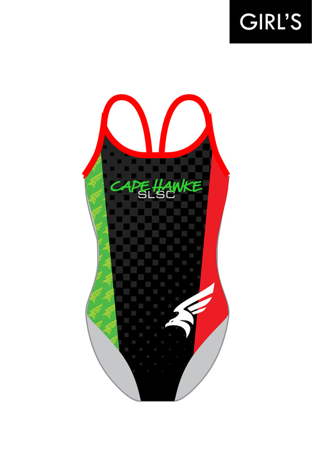Cape Hawke SLSC Girl's V-Strappy Back Racer