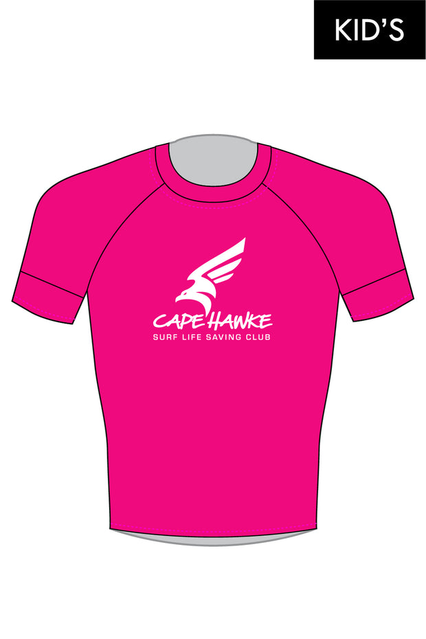Cape Hawke SLSC Kid's Hi-Vis Short Sleeve Rashie