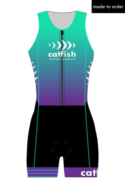 Asymmetric Custom Zip Tri Suit