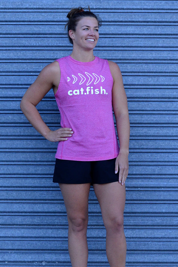 Catfish Muscle Tee Heather Pink