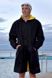 Black & Yellow Swim Jacket