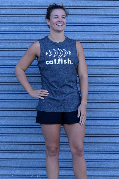 Catfish Muscle Tee Heather Grey