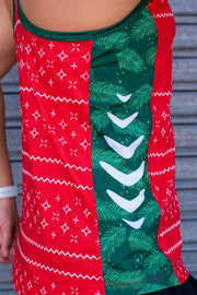 Women's Run Singlet - Christmas Fa La La Lama