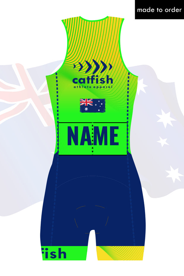 Australia Custom Zip Tri Suit