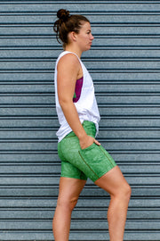 Beleave in Olive Mid-Thigh Shorts