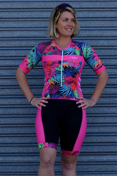 Girl's Aloha Sleeve Tri Suit