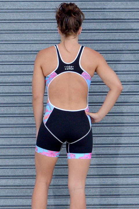 Blue Flamingo Open Back Race Suits