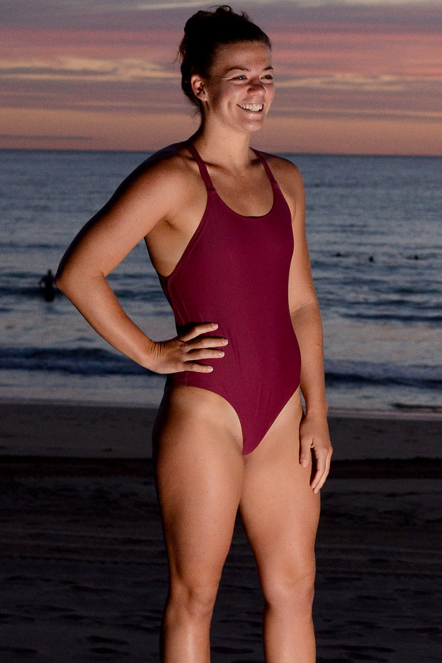 Burgundy Evie One Piece