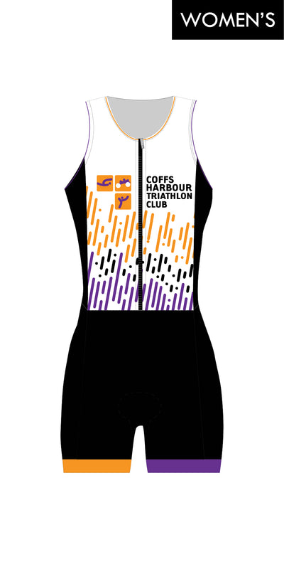 Women's Coffs Harbour Tri Club Zip Suit