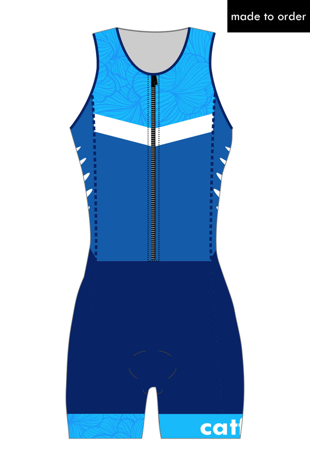 Women's Custom Zip Tri Suit