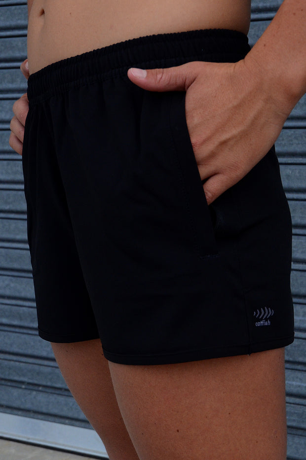 Just Black Training Shorts