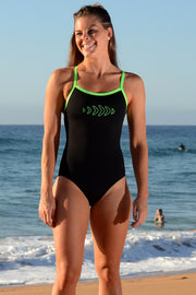 Electric Lime Strappy Back Racer