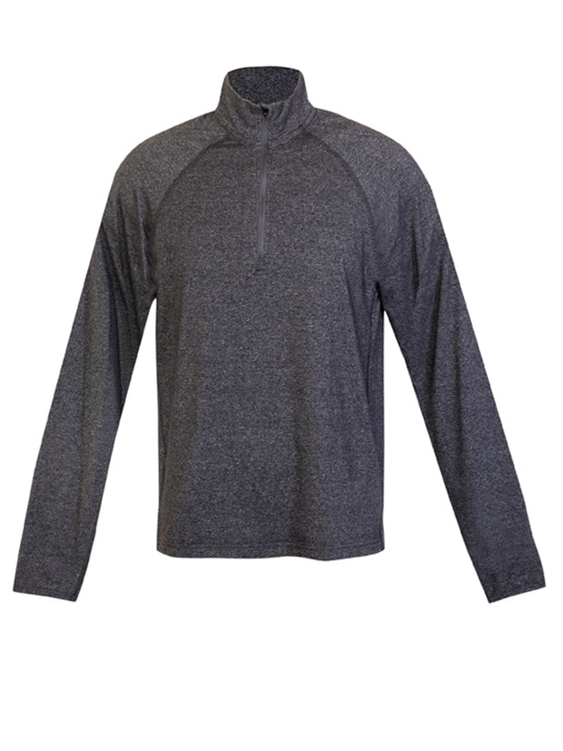 Greatness Half Zip Heather Long Sleeve