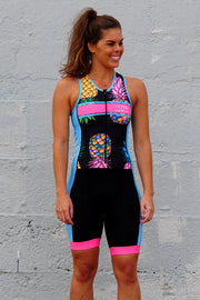 Girl's FINE-Apple Zip Tri Suit
