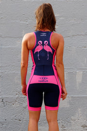 Girl's Freddie Flamingo Zip Tri Suit