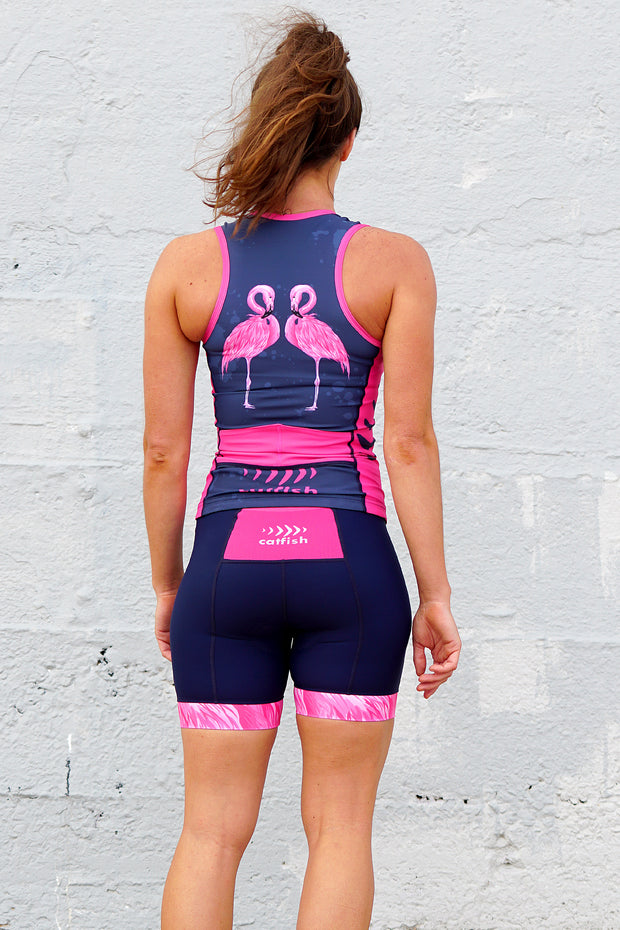 Freddie Flamingo Women's Tri Top