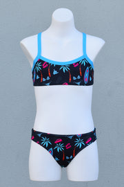 Girl's Good Vibes Cross Back Bikini