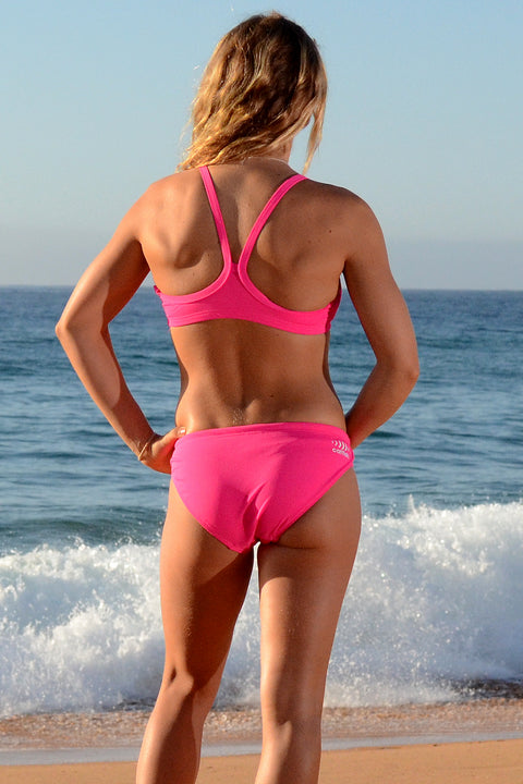 Hot Pink Scoop Bikini