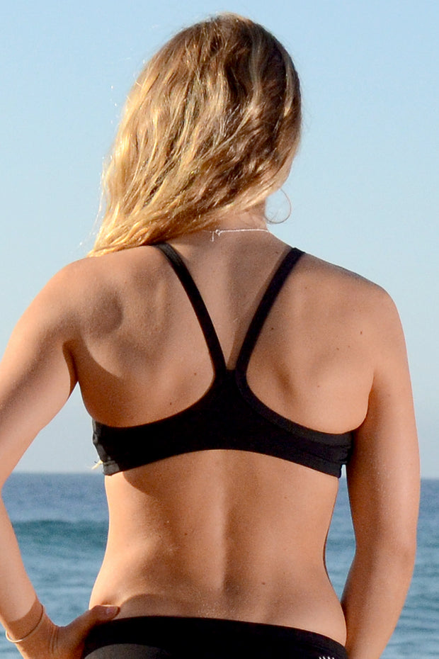 Just Black Scoop Bikini Top