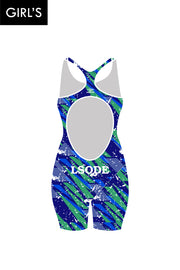 LSODE Girl's Open Back Race Suit
