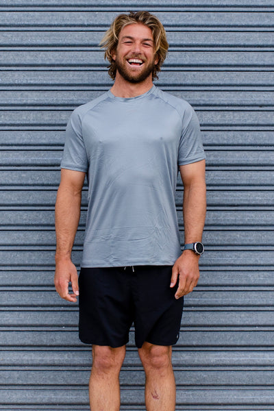 Men's Run Tee - Grey
