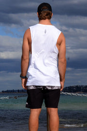 Men's Catfish Muscle Tee, White