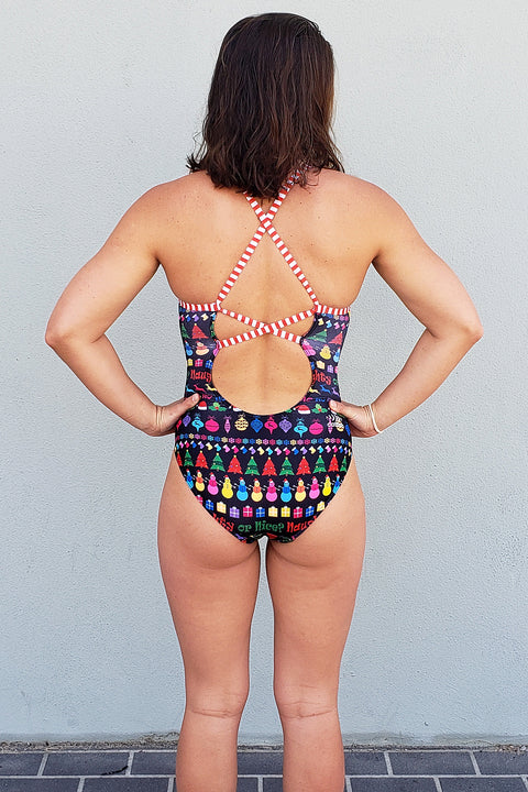 Christmas Naughty or Nice Strappy Back Racer