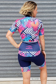 Neon Fern Cycle Bib