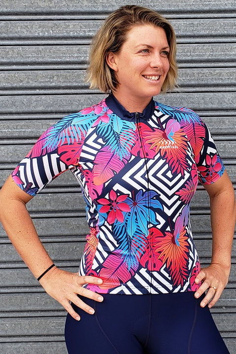 Neon Fern Cycle Jersey