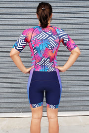 Neon Fern Sleeve Tri Suit