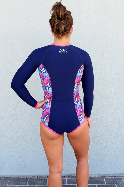 Girl's Neon Fern Surf Suit