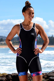 Girl's Tropical Nature Open Back Race Suit