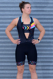 Shoot For The Stars Zip Tri Suit