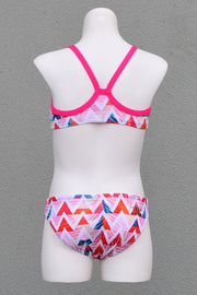 Girl's Summer Chevron Scoop Bikini