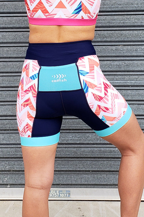 Summer Chevron Tri Shorts