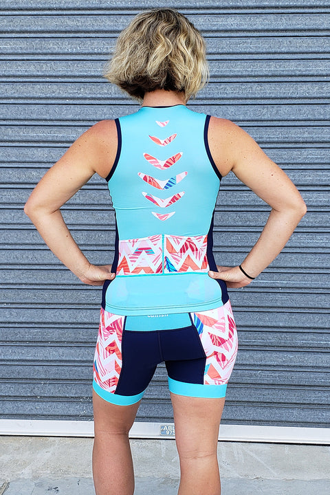 Summer Chevron Tri Top