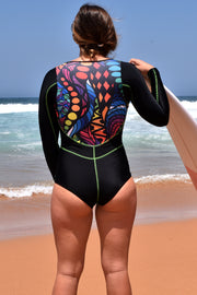 Girl's Mosaic Surf Suit