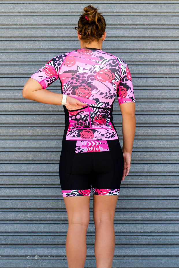 Wild Roses Sleeve Tri Top