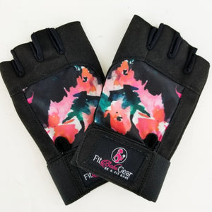 Painted Floral - Workout Gloves