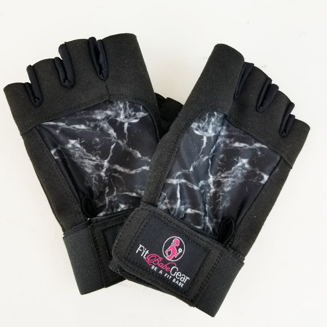 Black Marble - Workout Gloves
