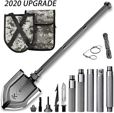 Zune Lotoo Folding Shovel Survival Gear for Camping and Hiking