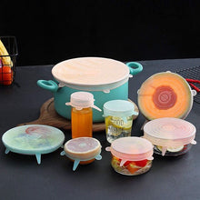 Load image into Gallery viewer, 6 items universal silicone covers for fruits and dishes