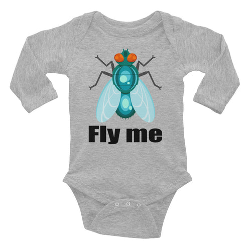 Cute Fly Me Infant Long Sleeve Bodysuit