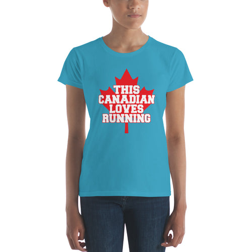 This Canadian loves Running Women's short sleeve t-shirt